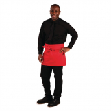 Whites Short Bistro Apron Red