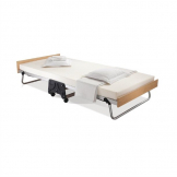 Jay-Be Contract Folding Bed with Memory Foam Mattress Single in Silver Colour