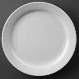 Athena Hotelware Narrow Rimmed Plates 165mm (Pack of 12)