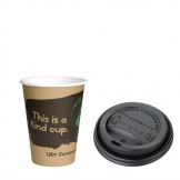Special Offer Fiesta Green 12oz Compostable Hot Cups and Lids (Pack of 1000)