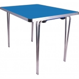 Gopak Contour Folding Table Blue 3ft