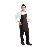 Chef Works Two Patch Pocket Bib Apron Black