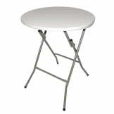 Bolero Round Folding Table White 600mm (Single)