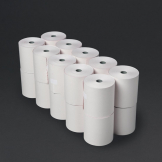 Fiesta Non-Thermal 2ply White and Pink Till Roll 76 x 71mm (Pack of 20)