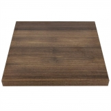 Bolero 600mm Pre-Drilled Square Table Top Rustic Oak