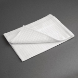 Vogue Cloths White Honeycomb Weave (Pack of 10)