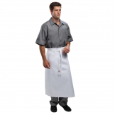 Chef Works Long Four Way Waist Apron White