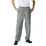 Chef Works Essential Baggy Pants Small Black Check 8XL
