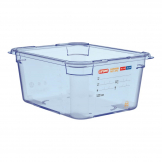 Aravan ABS Food Storage Container Blue GN 1/2 150mm