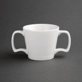 Olympia Heritage Double Handle Mugs 300ml White (Pack of 6)
