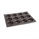 Vogue Aluminium Non-Stick Muffin Tray 12 Cup