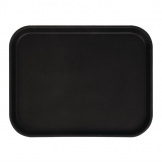 Cambro Camtread Fibreglass Rectangular Non-Slip Tray Black 457mm