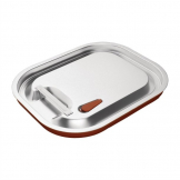 Vogue Stainless Steel and Silicone Sealable 1/2 Gastronorm Lid