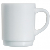 Arcoroc Opal Stackable Mugs 250ml (Pack of 6)