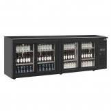 Polar U-Series Four Door Back Bar Display Cooler