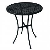 Bolero Black Steel Patterned Round Bistro Table Black 600mm