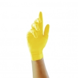Pearl Powder-Free Nitrile Gloves Yellow Large