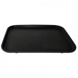 Kristallon Polypropylene Rectangular Non-Slip Tray Black 405mm