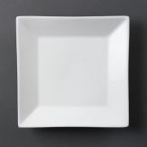 Olympia Whiteware Square Plates Wide Rim 250mm (Pack of 6)