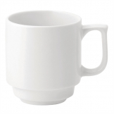 Utopia Pure White Stacking Mugs 280ml (Pack of 36)