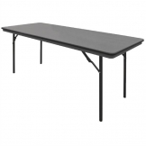 Bolero ABS Rectangular Folding Table Grey 6ft (Single)