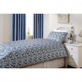 Essentials Florence Pebble Pillowcase Cobalt (152 TC, Polyester)