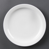 Olympia Whiteware Narrow Rimmed Plates 202mm (Pack of 12)