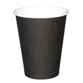 Fiesta Disposable Coffee Cups Single Wall Black 340ml / 12oz (Pack of 50)