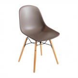 Bolero PP Moulded Side Chair Coffee with Spindle Legs (Pack of 2)