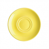 Olympia Heritage Double Well Saucers Yellow 163mm (Pack of 6)