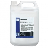 Ecolab Bioscan Lemon Hard Surface Cleaner and Disinfectant Concentrate 5Ltr (4 Pack)