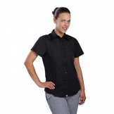 Chef Works Womens Cool Vent Chefs Shirt Black S