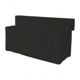ZOWN Buffet Table Plain Cover Black