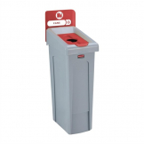 Rubbermaid Slim Jim Cans Recycling Station Red 87Ltr