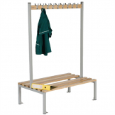 Double Sided Coat Hanger Bench 1200mm