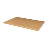 Bolero Pre-drilled Rectangular Table Top Beech Effect