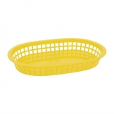 Kristallon Polypropylene Food Baskets Yellow (Pack of 6)