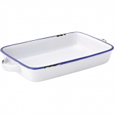 Utopia Avebury Blue Large Rectangular Dish 220mm (Pack of 12)
