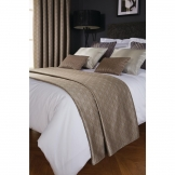 Luxury Deco Bed Runner Biscuit Shard Double