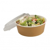 Colpac Recyclable Kraft Salad Pots With Lid Large 1300ml / 45oz (Pack of 150)