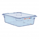 Aravan ABS Food Storage Container Blue GN 1/2 100mm
