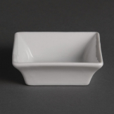 Olympia Miniature Square Dishes 75mm (Pack of 12)
