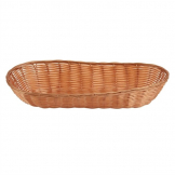 Poly Wicker Large Baguette Basket (Pack of 6)