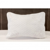 Luxury Chloe Quilted Pillow Cover White (100% Cotton)