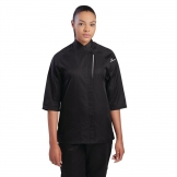 Chef Works Cool Vent Verona Womens Chefs Jacket Black M