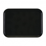 Cambro EpicTread Fibreglass Rectangular Non-Slip Tray Black 350mm