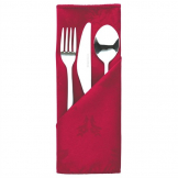 Traditions Polyester Napkins Burgundy Roslin