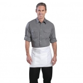 Chef Works Mens Pilot Shirt Grey L