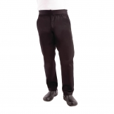 Chef Works Men's Lightweight Slim Trouser Black - Size M