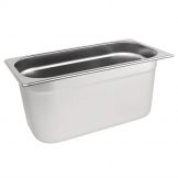 Vogue Stainless Steel 1/3 Gastronorm Pan 150mm